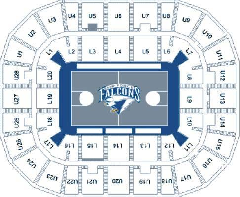 Clune arena seating chart air force academy athletics