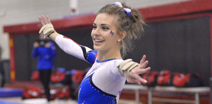 58a47155 ITHACA, N.Y. – The Air Force women's gymnastics team capped off its weekend  trip to New York with a first-place finish Cornell's Big Red Goes Pink ...