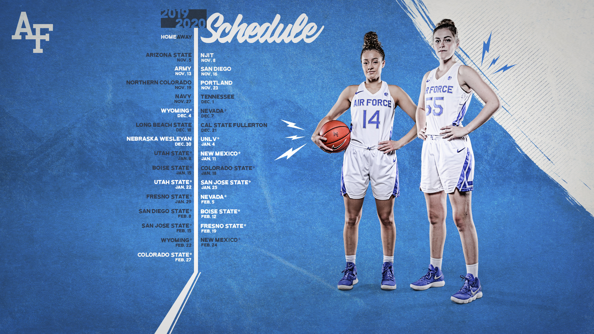 February 20th 2020 Utah Court Calendar Women's Hoops Announces 2019 20 Schedule   Air Force Academy Athletics