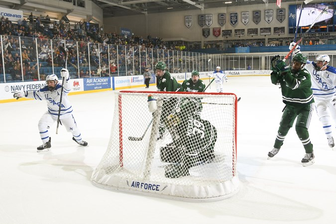 Stone's goal in OT earns extra point for Falcons - Air Force Academy Athletics