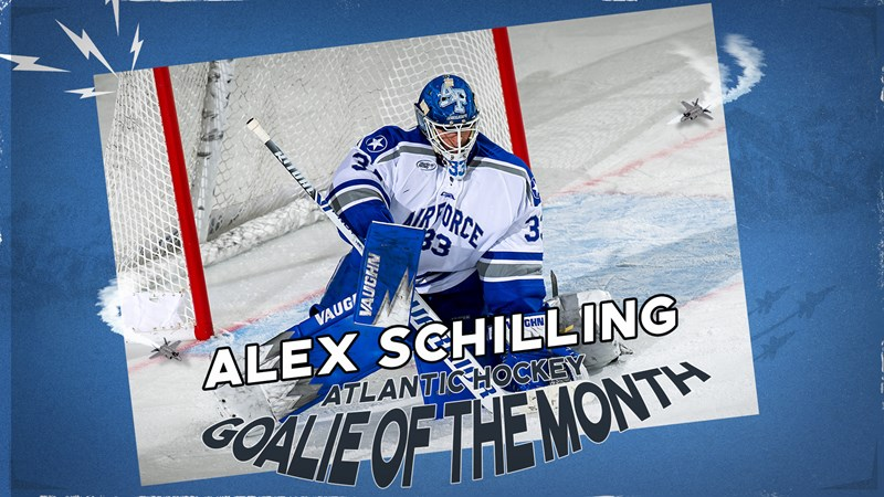 Schilling named AHA Goalie of the Week - Air Force Academy Athletics