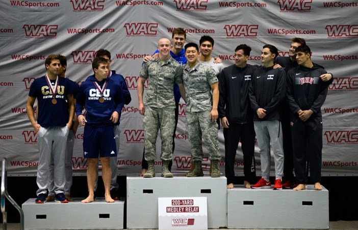 Two New School Records Highlight Day One at WAC Championships - Air Force Academy Athletics